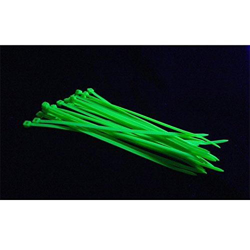 Bitspower UV-Reactive Cable Tie, UV Green, ()