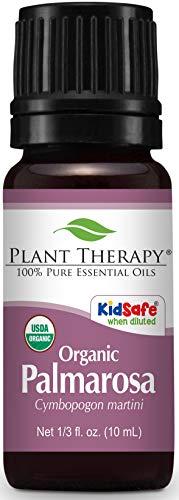 Plant Therapy Palmarosa Organic Essential Oil 10 mL (1/3 oz) 100% Pure, Undiluted, Therapeutic Grade