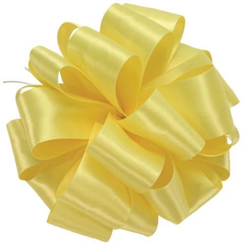 Offray Double Face Satin Craft Ribbon, 1-1/2-Inch Wide by 50-Yard Spool, (Lemon Ribbon)