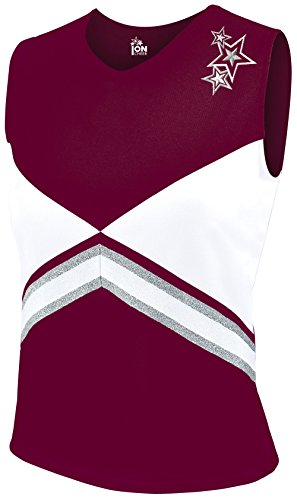 [Revolution Shell Top Maroon Youth Small] (Cheerleader Kids Outfit)