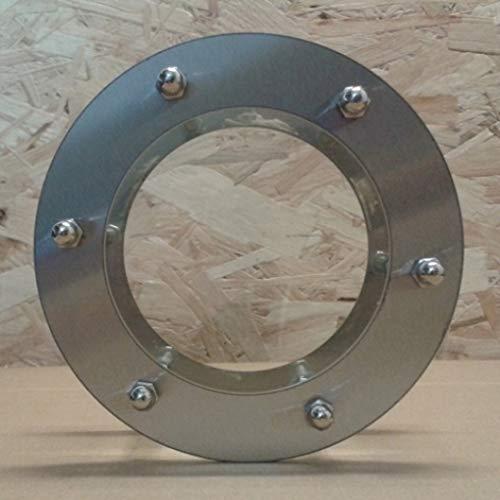 durchsichtiges Glas Hutmuttern Türbullauge Edelstahl 230mm flach