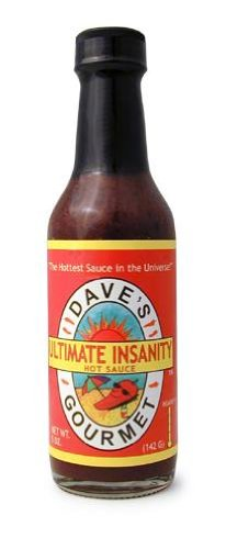 - Dave's Gourmet Ultimate Insanity Hot Sauce, 5-Ounce Bottles (Pack of 3)