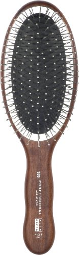 Acca Kappa Professional Pro Pneumatic Hair Brush, Oval with Chrome Plated Pins