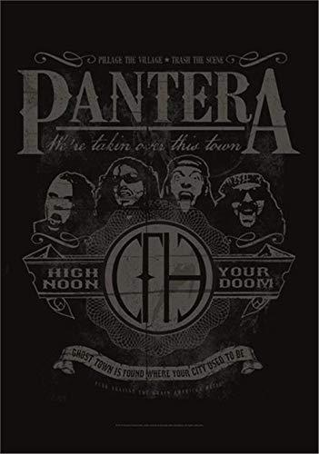 Pantera High Noon Your Doom Official Black Textile Flag Poster 75cm x 110cm