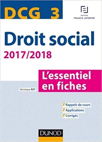 69b1a92292f DCG 3 - Droit social 2017 2018 - 8e éd. - L essentiel en fiches (French)  Paperback