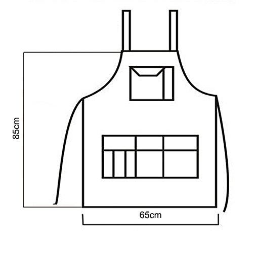 Para Resistente Largo Halter Mujer Ajustables Jeans Halter Delantal Material Caf Cocina Restaurante 8q5w50pR