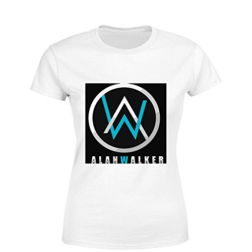 d8579906 Edgy Alan Walker Logo Women Cotton Ribbed Crewneck Short Sleeve T-Shirt:  Amazon.in: Clothing & Accessories