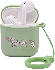 LuGeKe Compatible with Airpods 1&2 Soft Silicone Animals Case,Luxury Funny Cool Stylish Elephant Designer Cute Cover for Girls Boys Kids Teens Men Air pods (Support Wireless Charge,Elephant Flag)