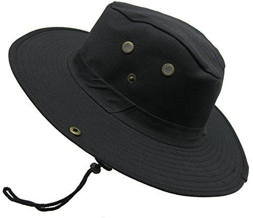 (Boonie Bush Outdoor Fishing Hiking Hunting Boating Snap Brim Hat Sun Cap Bucket (Black, S))