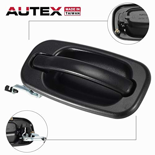 - AUTEX Exterior Door Handle Driver Side Rear Left Compatible with Cadillac Escalade Tahoe Yukon 1999 2000 2001 2002 2003 2004 2005 2006 2007 Chevrolet Avalanche Silverado Suburban GMC Sierra 80579