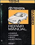 1994 Toyota Paseo Repair Shop Manual Original