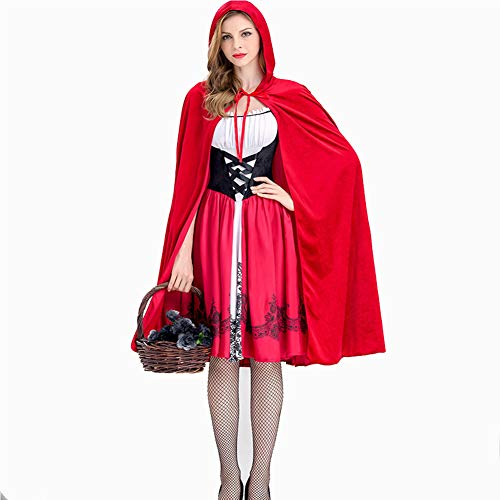 XSQR Red Chaperon Halloween Petit Cape Chaperon Cosplay Rouge Petit Cape Rouge Robe 1Tq741rx