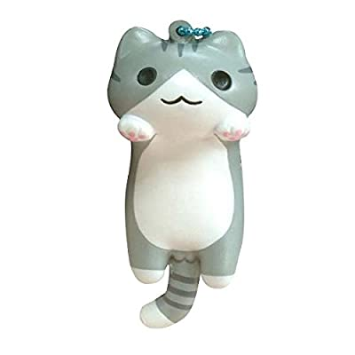 Niconico Nekomura Cat Super Soft Squishy Toy [Japanese Famous Characters] (Kijitora Cat, Gray, 3.5 Inch) [Easter Basket Stuffers, Party Favors, Stress Relief Toys for Kids]: Electronics