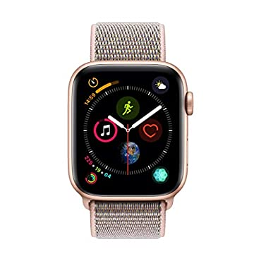 Apple Watch Series 4 (GPS + Cellular, 44mm) Gold Aluminium Case with Pink Sand Sport Loop