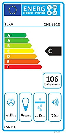Teka CNL 9610 694 m³/h Semintegrada (extraíble) Acero inoxidable C - Campana (694 m³/h, Recirculación, D, A, D, 60 dB): 168.18: Amazon.es: Grandes electrodomésticos