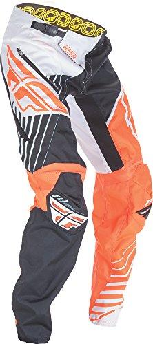 Fly Kinetic Mesh Pants (Fly Racing Unisex-Adult Kinetic Trifecta Bicycle Pants (Orange/White, Size 36))