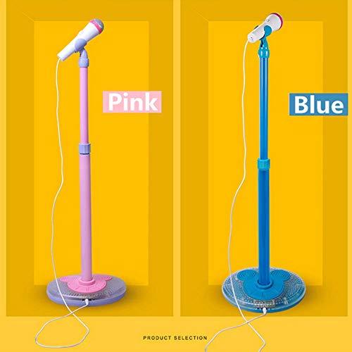 YuHuaFUShi Kids Karaoke Machine, Microphone with Adjustable Stand Singing Karaoke Machine for Toddler Girls (Blue) by YuHuaFUShi (Image #1)