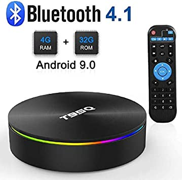 Android 9.0 TV Box, Android Box 4GB RAM 32GB ROM S905X2 Quad-Core Cortex-A53 Support 2.4G/5G WiFi/100M/H.265 Decoding/4K Full HD Output/ HDMI3.0/ Bluetooth 4.1 Smart TV Box: Amazon.es: Electrónica