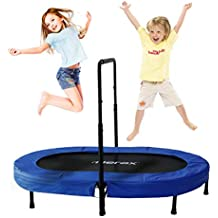 Merax Mini Rebounder Trampoline with Adjustable Handle for Two Kids, Parent-Child Trampoline
