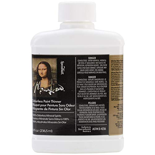 Paint Thinner - Speedball Art Products 190008 8-Ounce Mona Lisa Odorless Paint Thinner