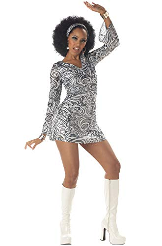 Sparkly Dress Halloween Costume Ideas (California Costumes Women's Disco Diva, As Shown, Small (6-8))