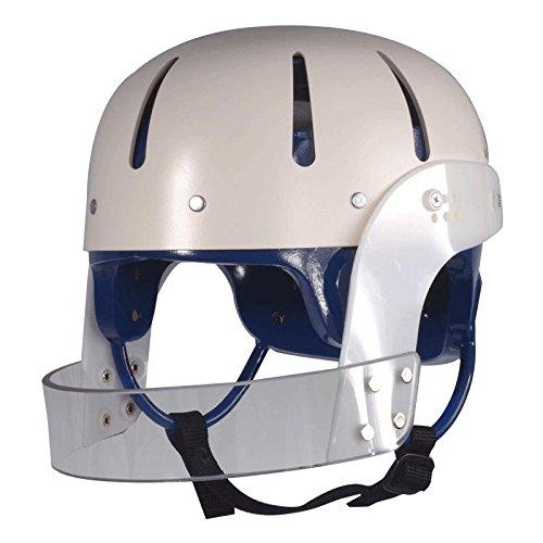 (Hard Shell Helmet with Face Bar, Royal Blue Foam Liner, Large)