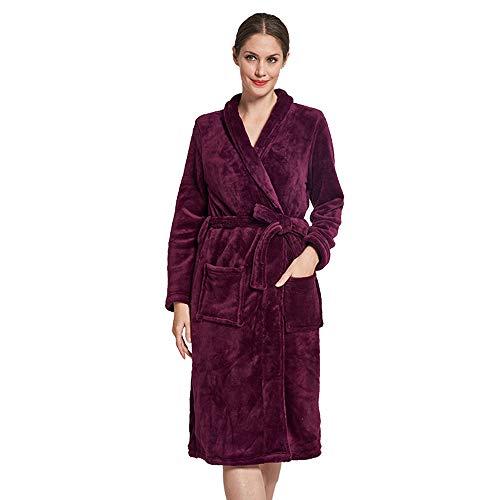 13c0a87e Bata Para Metro De Las Cálido Tamaño Verde Púrpura Baño Batas Mujeres  Pijama Lana Felpa color Mujer Suave wSIwxZ