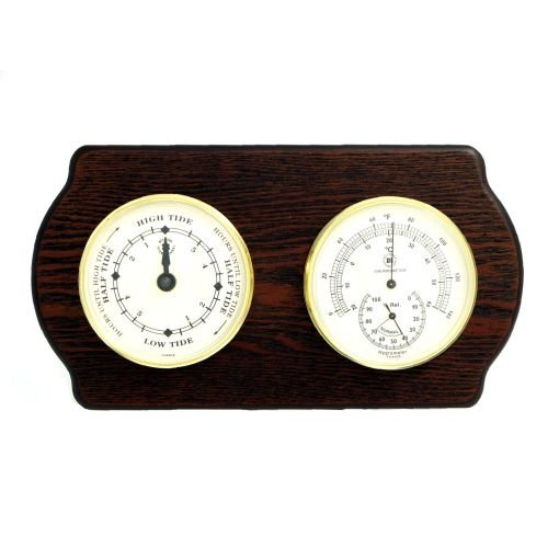 Tide Clock, Thermometer and Hygrometer by Bey-Berk