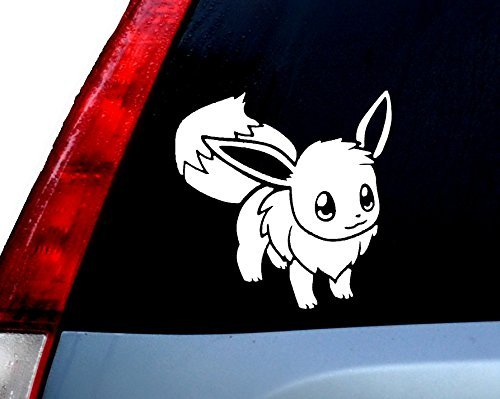 [Pokemon Go Pikachu Standing Decal Vinyl Sticker|Cars Trucks Vans Walls Laptop| WHITE |5.5 x 5.5] (Pictures Of Pikachu Costumes)