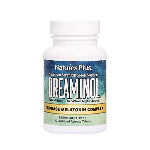 (Natures Plus Dreaminol - 1.5 mg Melatonin, 30 Sustained Release Tablets - Maximum Strength Sleep Support with Lactium, L-Theanine and 5-HTP - 30 Servings)