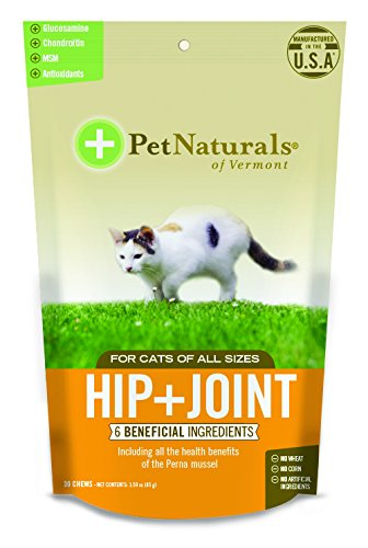 Pet Naturals of Vermont Hip + Joint for Cats, Daily Hip and Joint Support Supplement, 30 Bite Size Chews