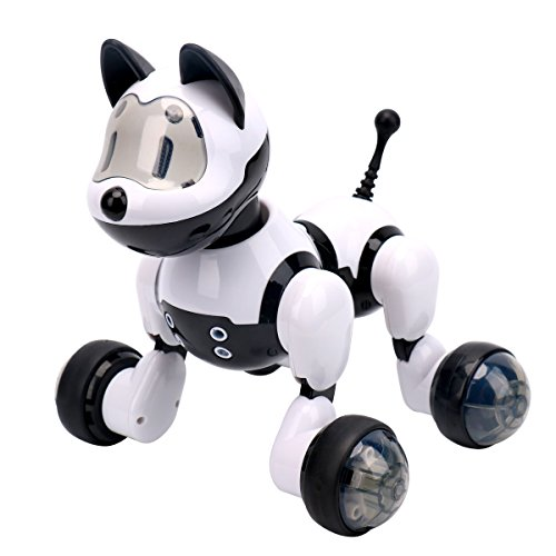 rc hobby store Dwi Dowellin Electronic Pet Dog Robot Interactive Puppy Voice Recognition Intelligent Electronic Toy Dog Gesture Sensing Dancing Pet for Kid MG010
