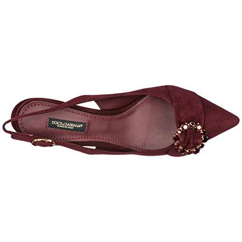 Dolce Lori amp; en Daim Talon Femme Chaussures Bordeaux Escarpins à Gabbana zUSrzx
