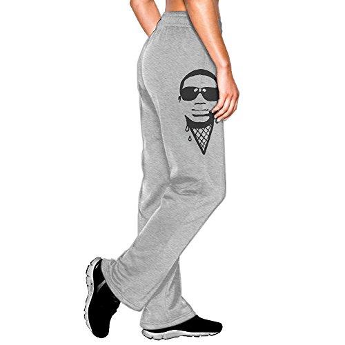MEGGE Women's Gucci Mane Drawstring Jogger Sweatpants Ash M (Drawstring Gucci)