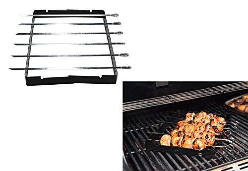 Home-X Barbecue Kebab Rack Set with 6 Skewers