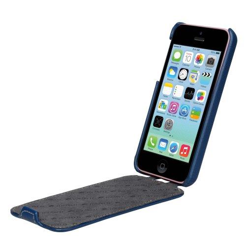 Melkco APIPONLCJT1DBLC Jacka Type Premium Leder Case für Apple iPhone 5C dunkel blau