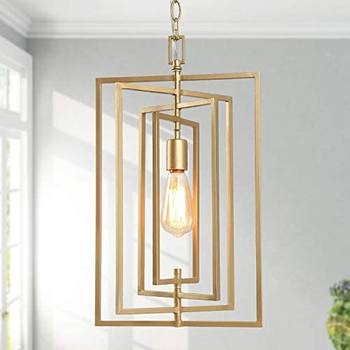 KSANA Gold Chandelier, Pendant Lighting for Kitchen Island with Adjustable Framework, W12 xH20.4