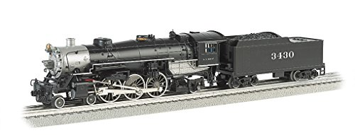 Williams by Bachmann 4 – 6-2 Pacific – Santa Fe # 3430 Train ( Oスケール)