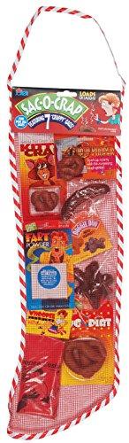 "Loftus International Joker Sac-O-Crap Full of Crappy Gags Christmas Stocking 7Pc 22"" Gift Set, Red Novelty Item"