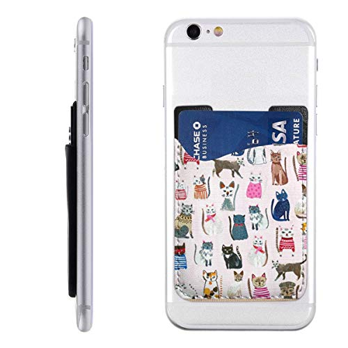 - Hot Dogs & Cool Cats Organic Cats Pink Cell Phone Card Holder, Stick On Wallet for Back of Phone, 3M Adhesive Ultra Slim Phone Pocket ID Credit Card Holder Sleeves Pouch Compatible All Smartphone