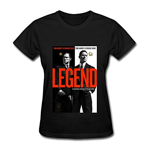 Women's Legend Movie Tom Hardy Cruise T Shirt Latest Black Size XXL
