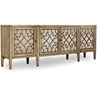 Hooker Furniture Sanctuary Four-Door Mirrored Console in Surf-Visage