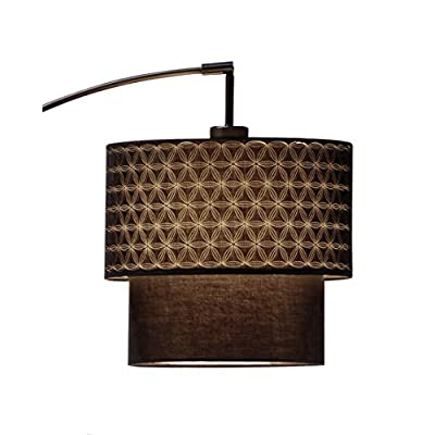 Image of Adesso 3029-01 Gala Arc Lamp with, Smart Outlet Compatible, 66'-71', Black Shade Arc Lamps