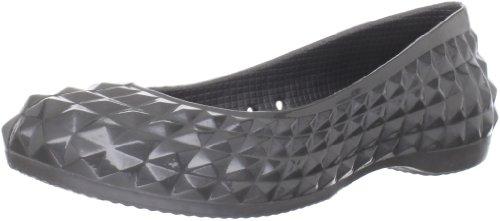 crocs Super Molded Patent Flat 12717-001-500 - Bailarinas para mujer Gris (Grau (GRAPH))
