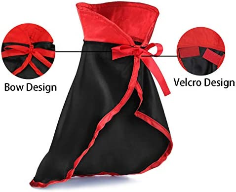 TOLOG Cat Halloween Costumes 2Pcs-Vampire Cloak and Wizard Hat for Halloween Dog Outfit Fairy Pet Cosplay Apparel Kitten Puppy Clothes 22