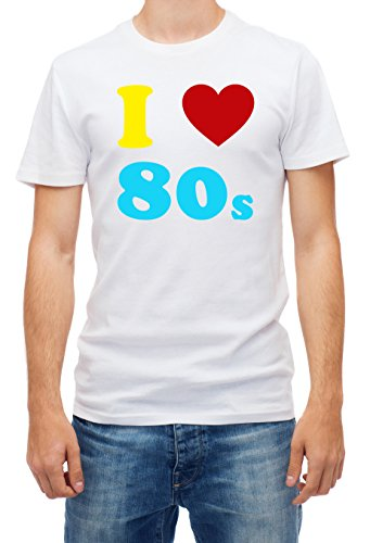 I LOVE THE 80s Men's, Boy, Guy, Fancy Dress Costume 80's Party Top Quality (XL) (80s Guys Costume)