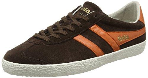 Gola Herren Specialist Fashion Sneaker Dunkelbraun / Moody Orange