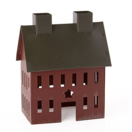 (Factory Direct Craft Painted Tin Colonial Saltbox House for Home Decor and Displaying)