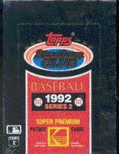 1992 Topps Stadium (1992 Topps Stadium Club Series 2 Baseball Cards Unopened Wax Box)
