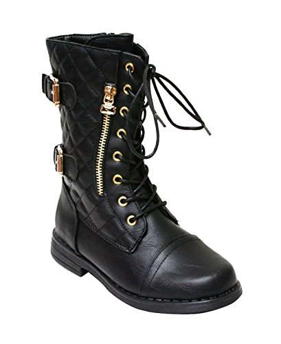 Happy Bull Girls Kids Lace Up Boots Fashion Western Boots Shoes (Date/May)